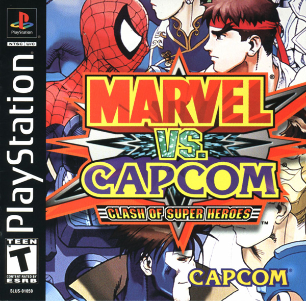 Marvel vs. Capcom - Clash of the Super Heroes Front Cover